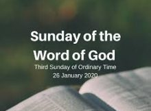 Sunday the word of God